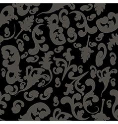 Random-black-floral vector