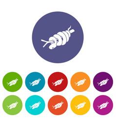 ratsnake icons set color vector image