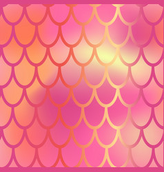 red and pink mermaid scale seamless pattern vector image