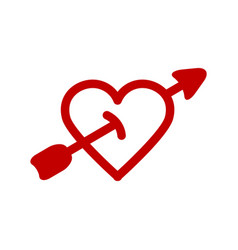 red heart icon minimalism vector image
