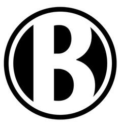 Round b logo vector