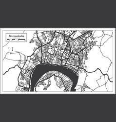 Samarinda indonesia city map in black and white vector