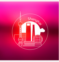 shanghai china concept vector image