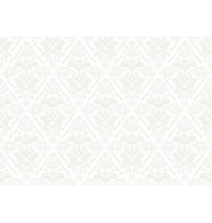 silver wallpaper with damask pattern vector image