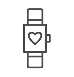 Smart watch isolated minimal icon multifunctional vector