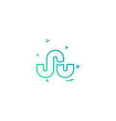 Stumbleupon icon design vector