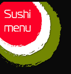 Sushi and rolls japanese food menu vector