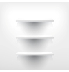 Three Empty Shelf For Exhibit vector image