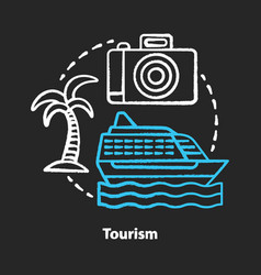 Tourism chalk concept icon hospitality industry vector