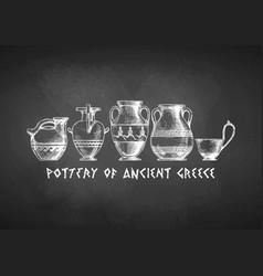 Typology of greek vase shapes vector