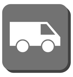 Van Rounded Square Icon vector image
