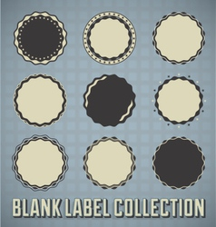 Vintage Blank Labels and Stickers vector image vector image