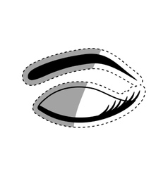 Woman eye closeup vector
