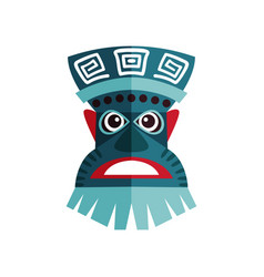 Zulu mask with traditional ornaments ancient vector