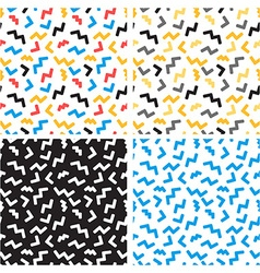 abstract seamless patterns in trendy pop art vector image vector image