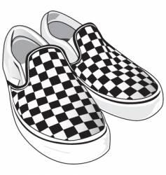 checkered vans vector image
