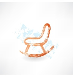 rocking chair grunge icon vector image vector image