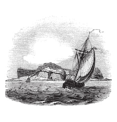 Staffa and bute engraving vector