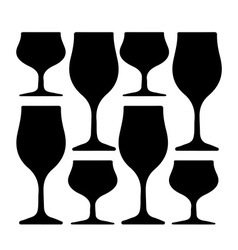 Alcoholic Glass Silhouette vector image vector image