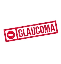 Glaucoma rubber stamp vector