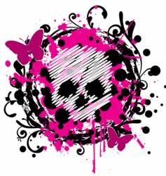 grungy skull vector image