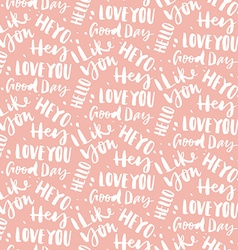 Seamless pattern with greetings vector image