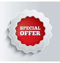 Special offer glass button vector image