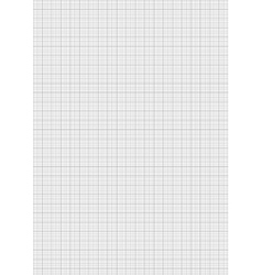 Gray color graph paper on vertical a4 sheet vector image vector image