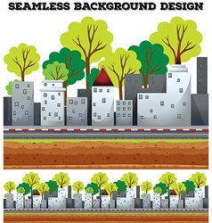 Seamless background design with buildings on the vector image