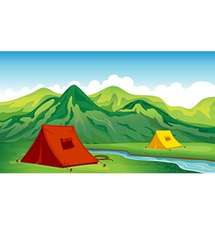 A camping site vector image