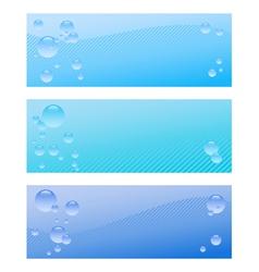 Air bubble banner set vector image