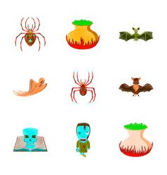 assembly flat shading style icon halloween cute vector image vector image