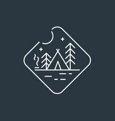 badge camping logo vector image