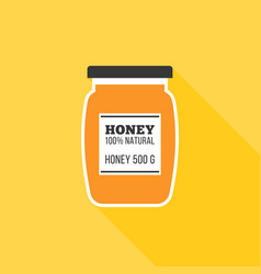 honey icon vector image vector image