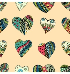 pattern of Tangle Patterns hearts vector image