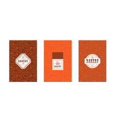 set of menu cover for bakery vector image vector image