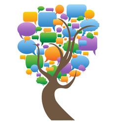 speech bubbles tree vector image vector image