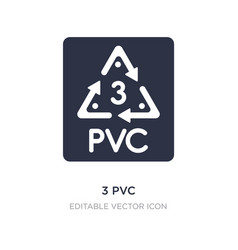 3 pvc icon on white background simple element vector