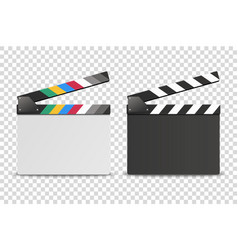 3d realistic opened white and black blank vector