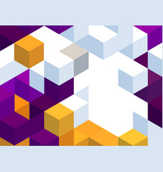 Abstract background with color cubes and grid vector