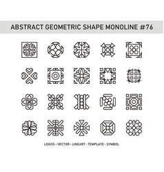 Abstract geometric shape monoline 76 vector