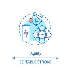 Agility concept icon vector