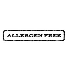 Allergen free watermark stamp vector