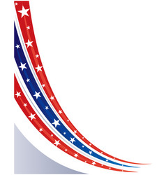 American abstract flag corner banner background vector