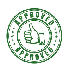 approve stamp with thumb vector image