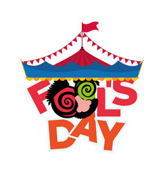 april fools day greeting card image vector image