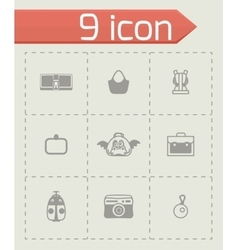 Bag icon set vector image