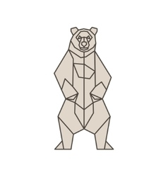 bear contour lines polygons low poly vector image