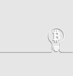 bitcoin grow gears back vector image