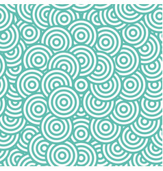 Blue circle seamless pattern vector